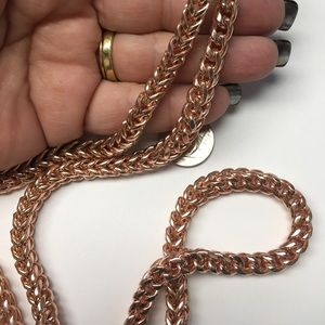 Jewelry - Rose gold plated, stainless steel necklace